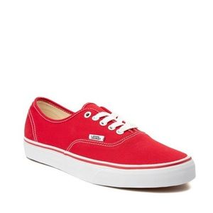Classic Red Vans Sneakers